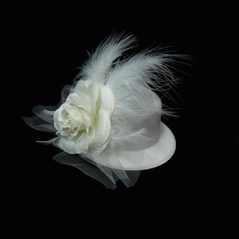 Ladies' Gorgeous Feather Bowler/Cloche Hat