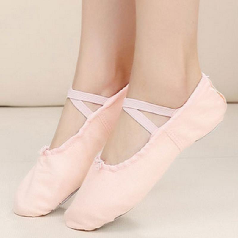 Women's Cloth Flats Pumps Ballet Dance Shoes
