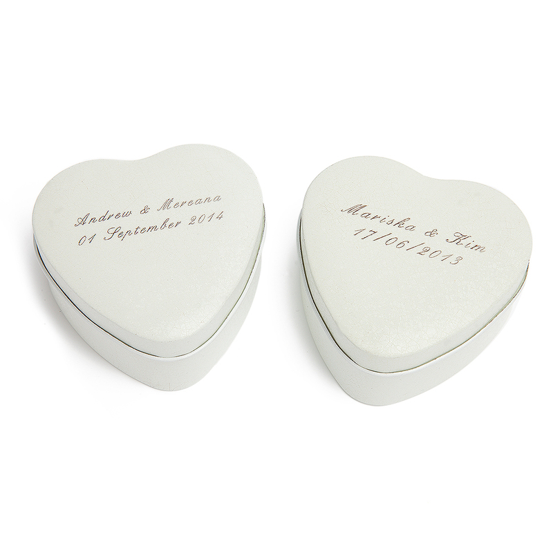 Personalized Heart Shaped Tins Favor Tin (Set of 24)