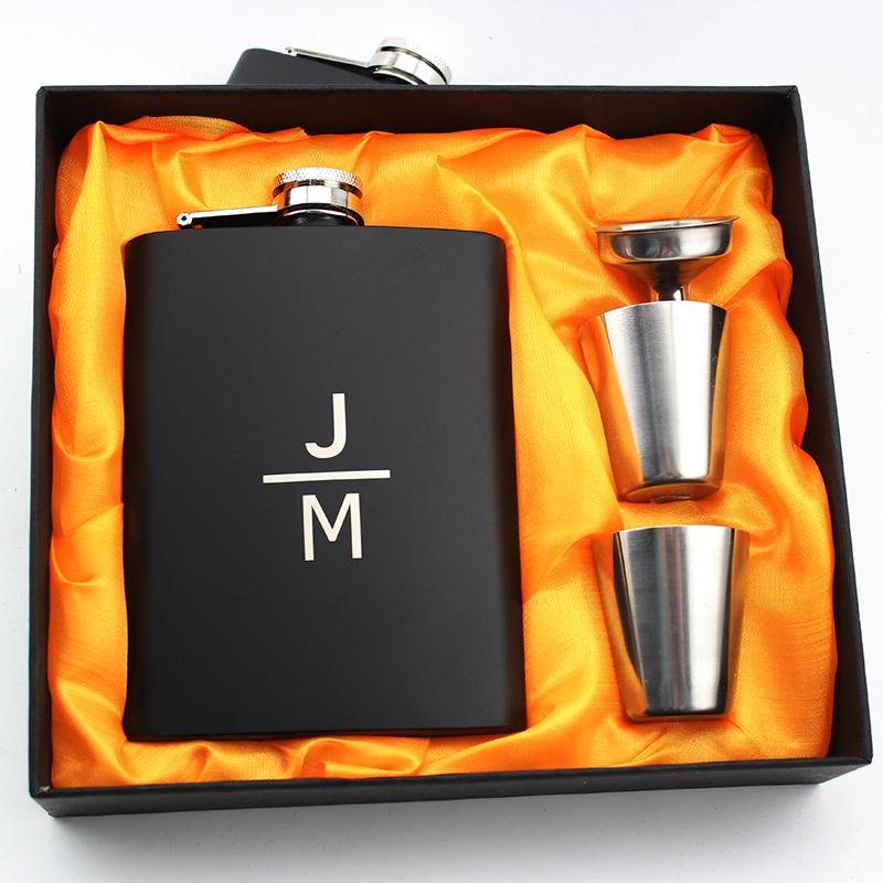 Groomsmen Gifts - Personalized Elegant Stainless Steel Flask