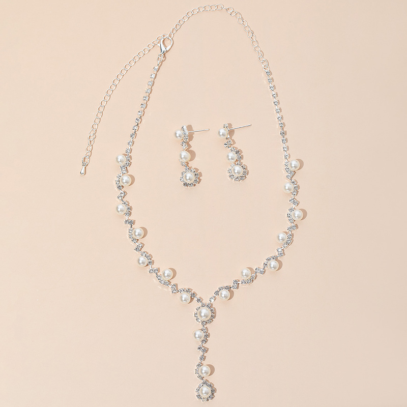 Elegant Alloy/Copper With Rhinestone/Imitation Pearls Ladies' Jewelry Sets