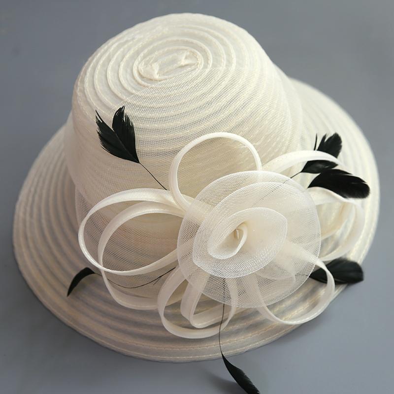 Ladies' Special/Elegant/Fancy Net Yarn With Flower Fascinators/Tea Party Hats