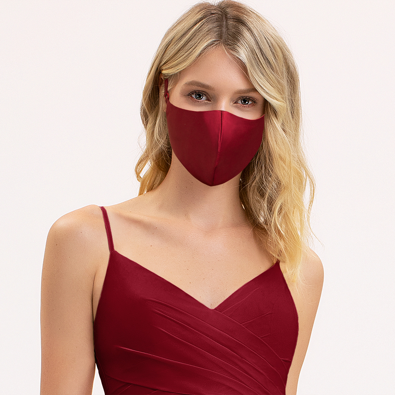 Non-Medical Satin Reusable Face Masks With Adjustable Loop