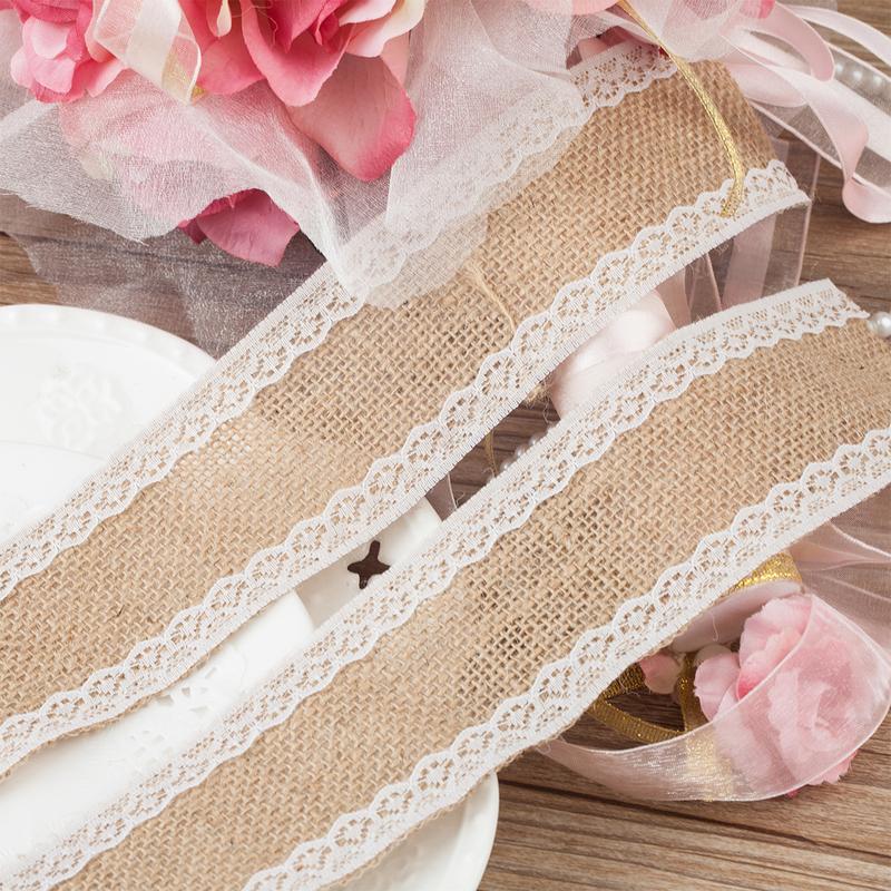 1 M Beautiful Lace/Cambric Decorative Bands