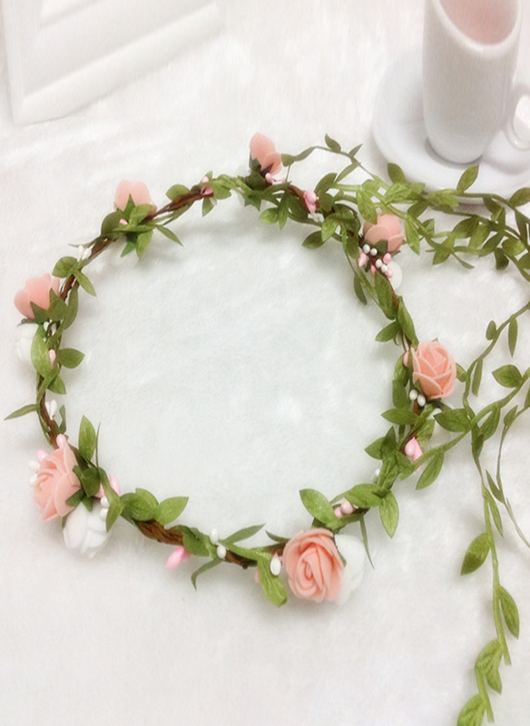 Plast med Blomst/Bånd blomst Pannebånd
