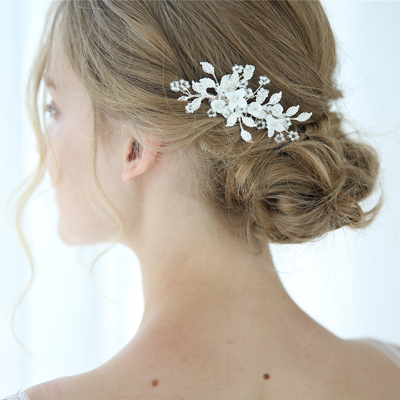 Classic Alloy Combs & Barrettes With Rhinestone (Sold in single piece)