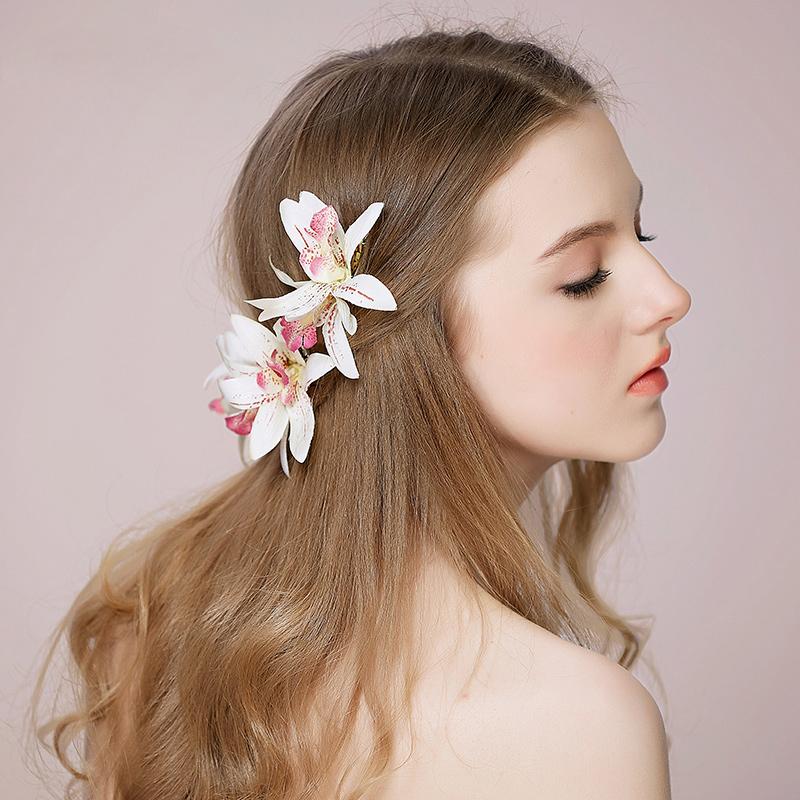 Damer Elegant Silke blomst Hårnåler