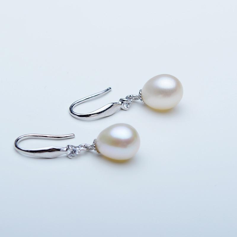 Damene ' Elegant 925 Sterling Sølv Perle øredobber Henne/Venner/Brud