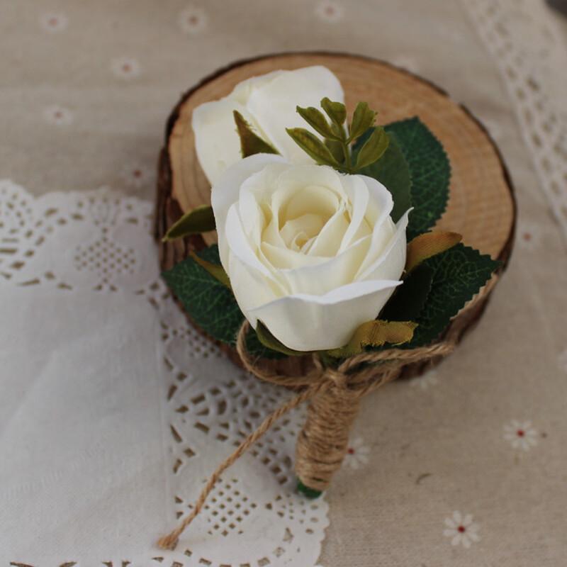 Hånd Bundet Silke blomst Boutonnie (som selges i et enkelt stykke) - Boutonnie