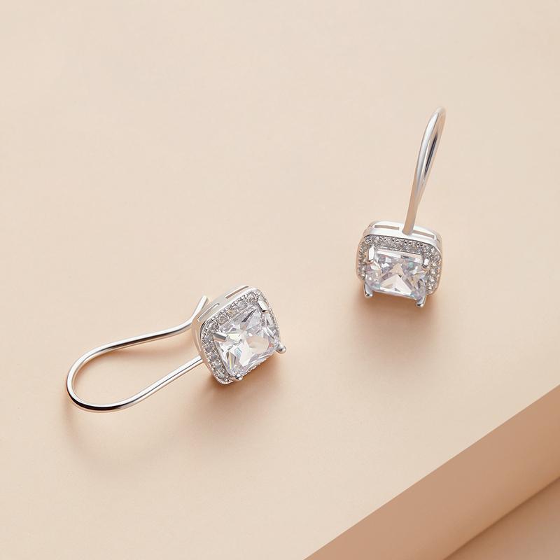 Unique Copper/Zircon With Cubic Zirconia Earrings