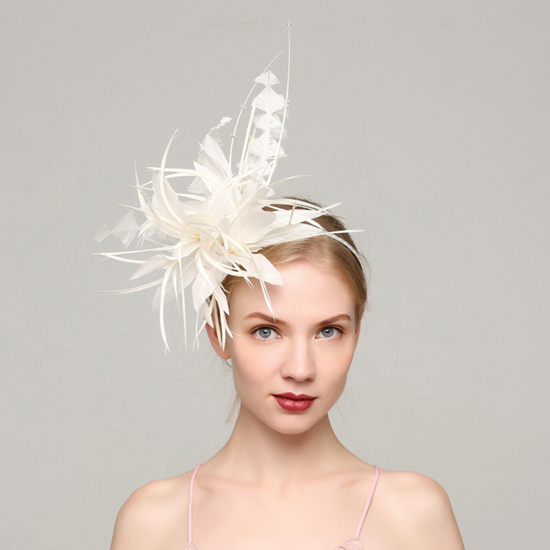 Ladies' Elegant Feather With Feather Fascinators/Kentucky Derby Hats/Tea Party Hats