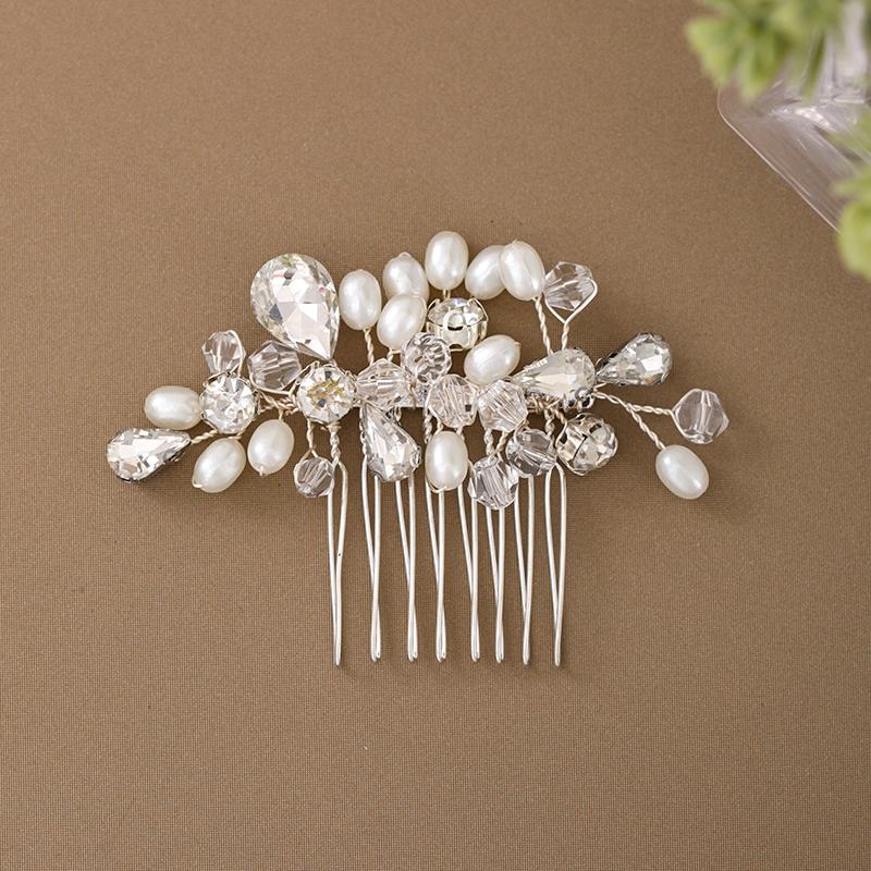Damer Elegant Crystal/Imitert Perle/kobber/Glass Kammer og Barrettes med Venetianske Perle/Crystal (Selges i ett stykke)