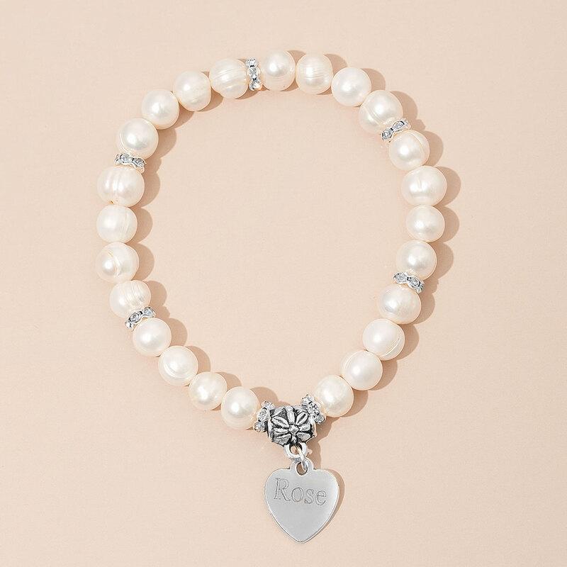 Personlig Barnets Personlig Perle Armbånd Venner/Brudepike
