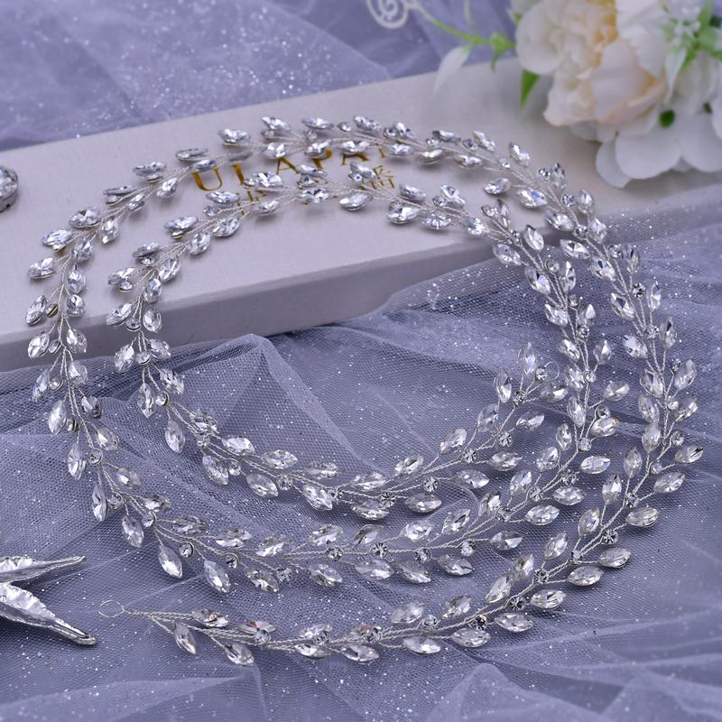 Nydelig Crystal/Rhinestone/Tsjekkisk Steiner/Zirkon/Glass Pannebånd (Selges i ett stykke)