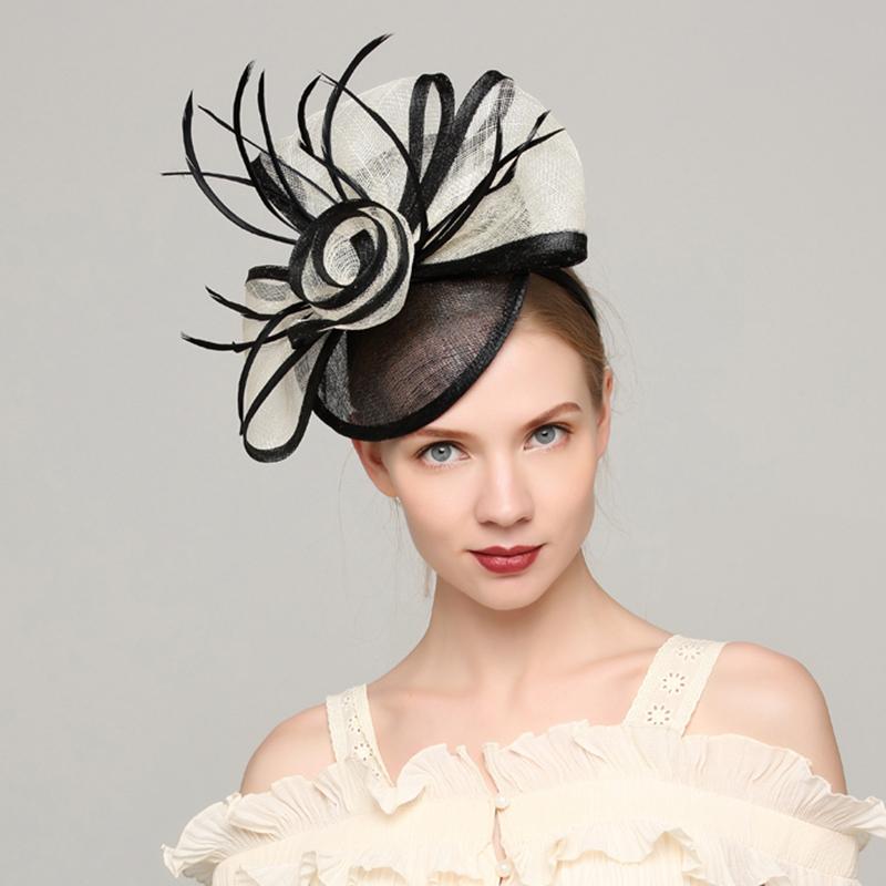 Damene ' Elegant Cambric/Fjær med Fjær Fascinators/Kentucky Derby Hatter/Tea Party Hats