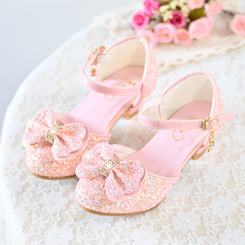 Jentas Lukket Tå Leather Flower Girl Shoes med Bowknot