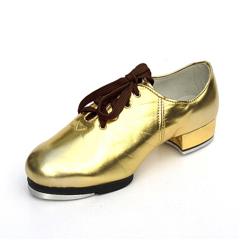 Unisex Leatherette Flats Tap Dance Shoes