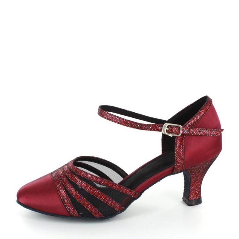 Women's Satin Heels Ballroom Dance Shoes