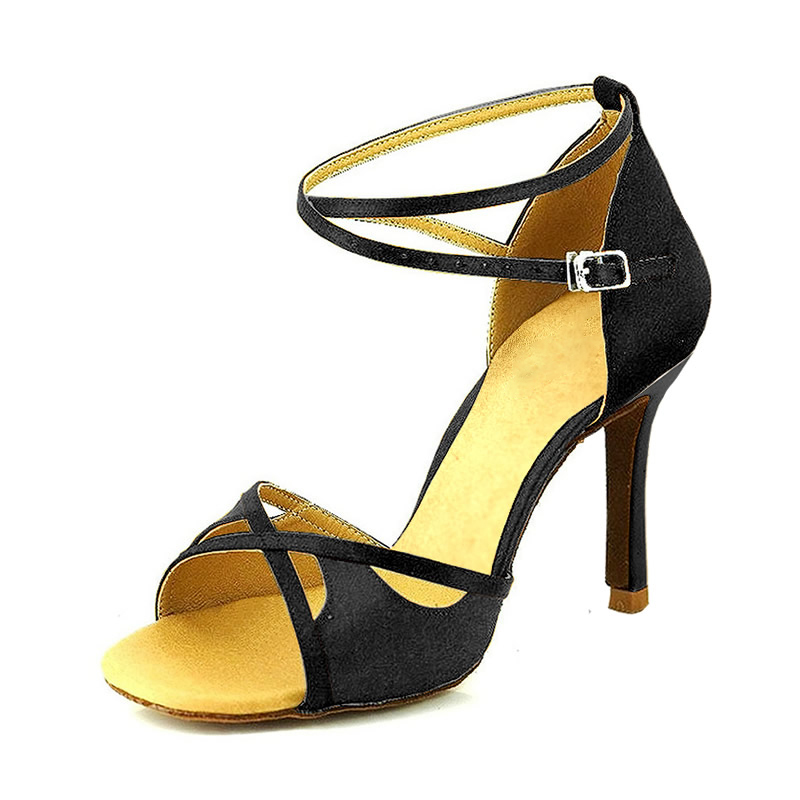 Women's Suede Heels Sandals Pumps Latin Dance Shoes