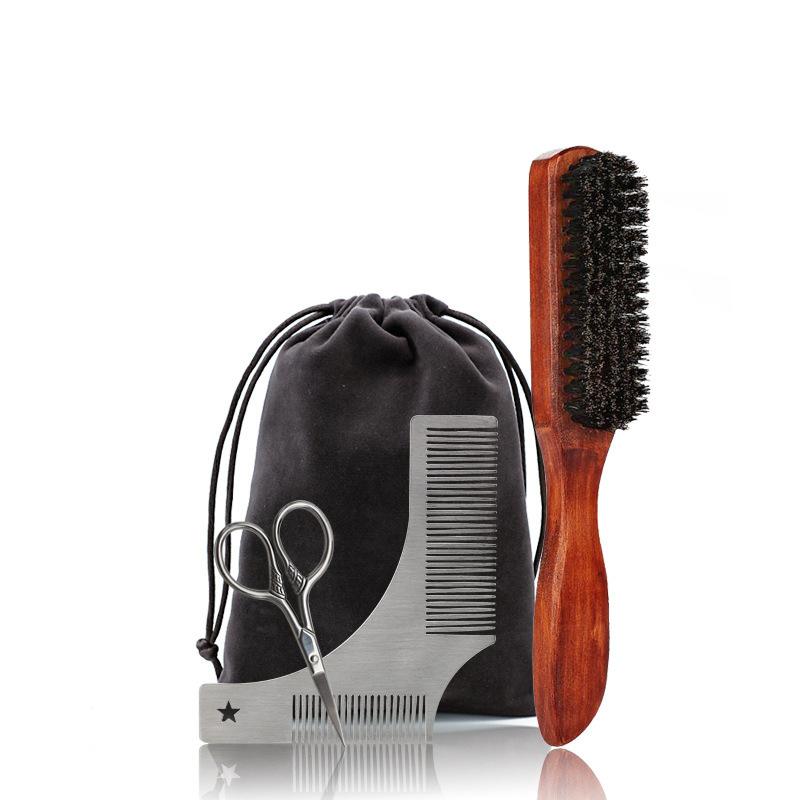 Groomsmen Gaver - Klassisk Stil Rustfritt Stål Tre Beard Kit