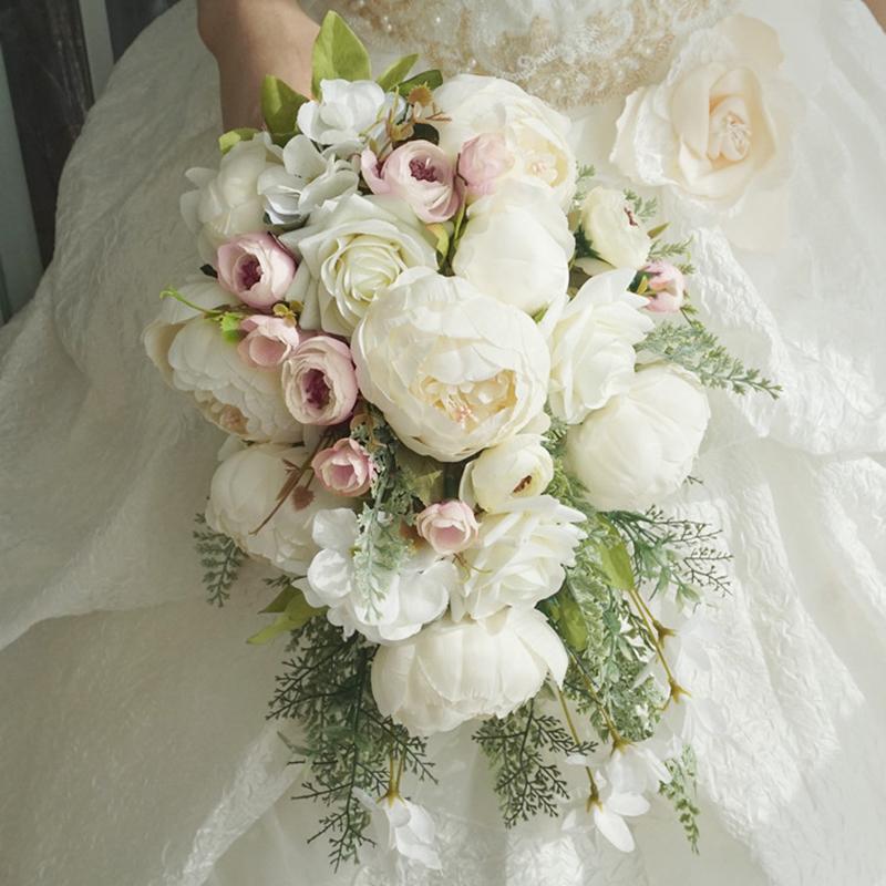 Cascade Silk/Cloth Bridal Bouquets -