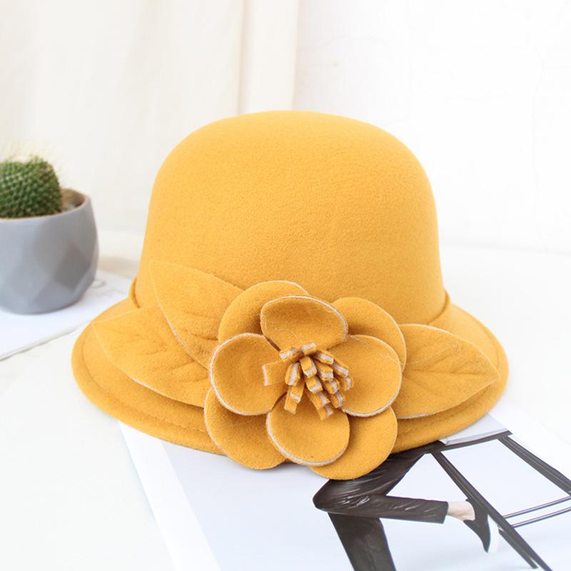 Damene ' Vakkert/Enkel/Pen ull blandning med Silke blomst Stiv / Cloche Hatt