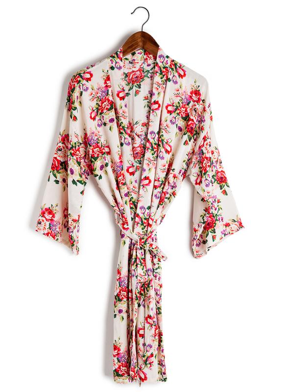 Cotton Bride Bridesmaid Mom Floral Robes