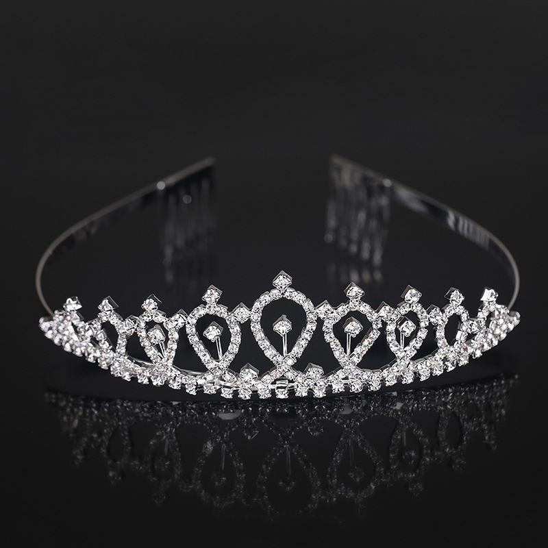 Ladies Elegant Rhinestone/Alloy Tiaras With Rhinestone (Sold in single piece)