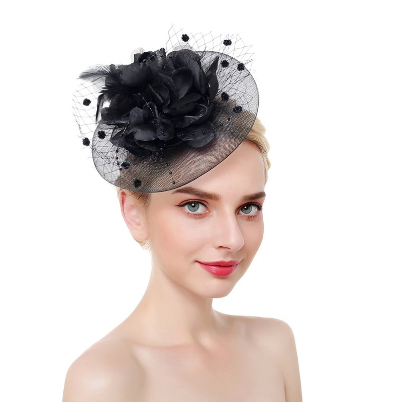 Ladies' Eye-catching/Pretty/Fancy Net Yarn With Feather Fascinators/Tea Party Hats