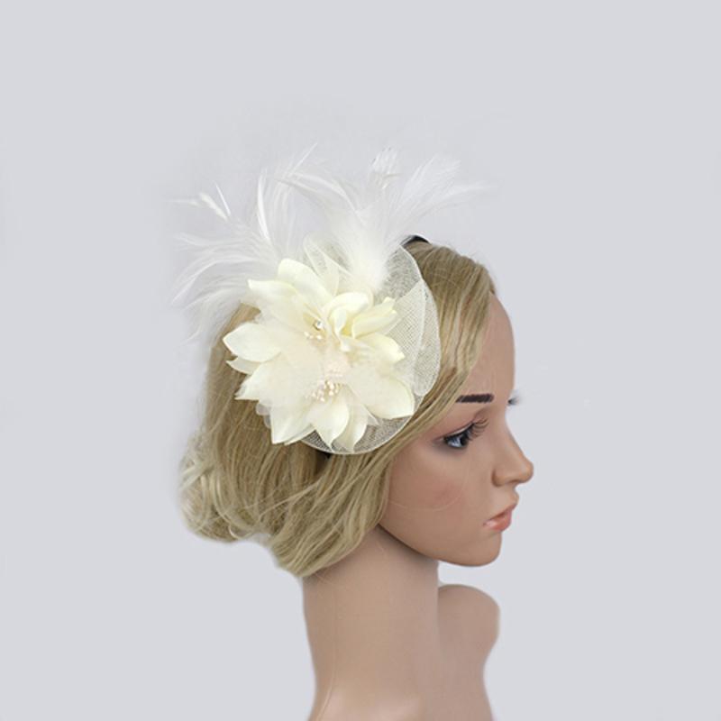 Ladies' Classic Feather/Net Yarn Fascinators/Tea Party Hats