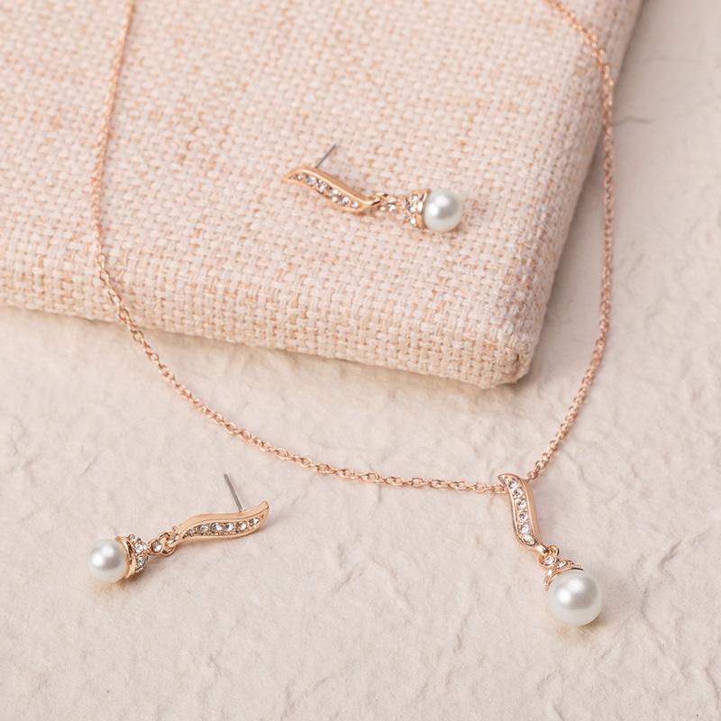 Vakkert Legering/Perle med Rhinestone Damene ' Smykker Sett