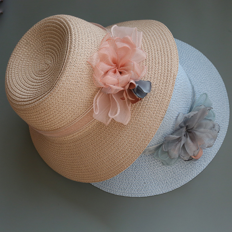 Ladies' Special/Elegant/Simple Raffia Straw With Flower Straw Hats/Tea Party Hats