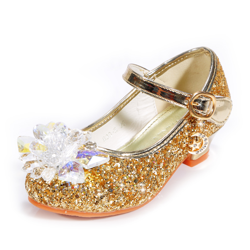 Jentas Lukket Tå Microfiber Lær lav Heel Flower Girl Shoes med Profilering