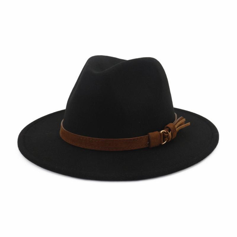 Menn Klassisk stil/Enkel ull blandning Fedora Hat