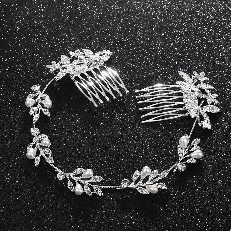 Ladies Nice Alloy Headbands With Rhinestone/Venetian Pearl (Sold in single piece)