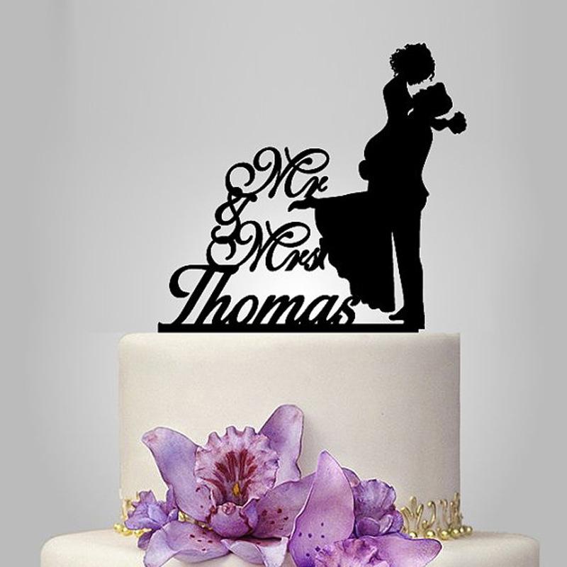 """Personlig """"Mr. & Mrs.""""/Lykkelig Par Akryl Kake Topper"""