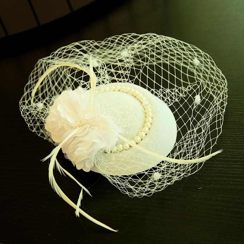 Damene ' Vakkert Fjær/Netto Garn/Silke blomst/Fløyel Fascinators/Tea Party Hats