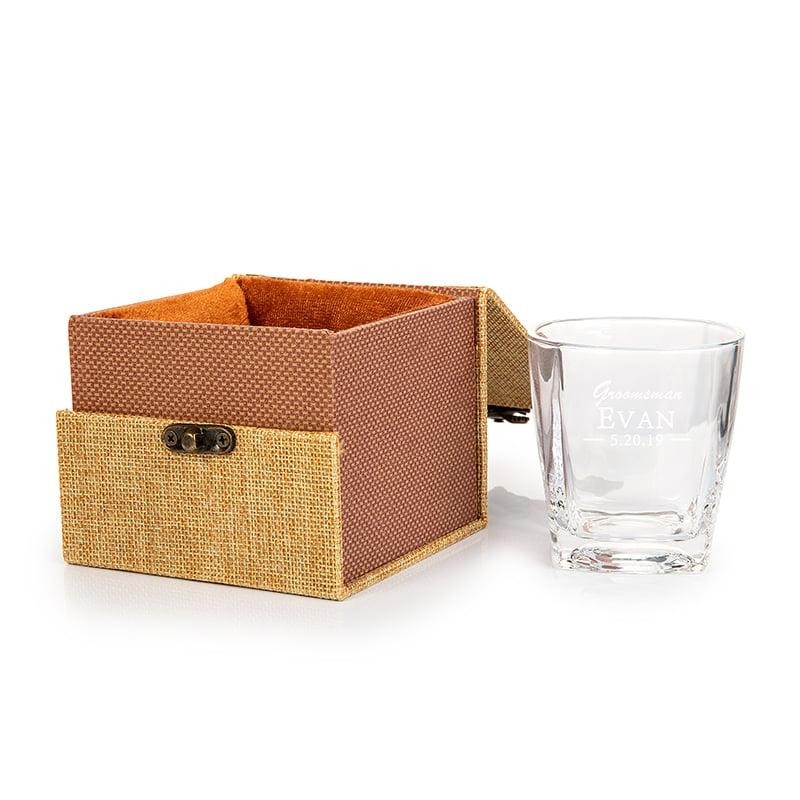 Groomsmen Gaver - Personlig Moderne Glass Whisky Glass