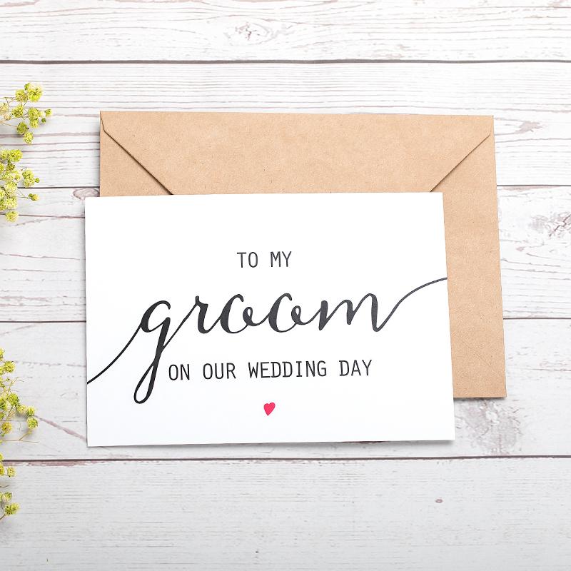 Groom Gaver - Moderne Stil Kort papir Bryllupsdagskort