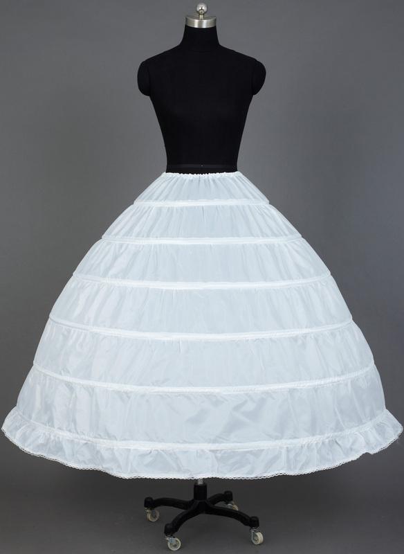 Women Nylon Tea-length 1 Tier  Petticoats