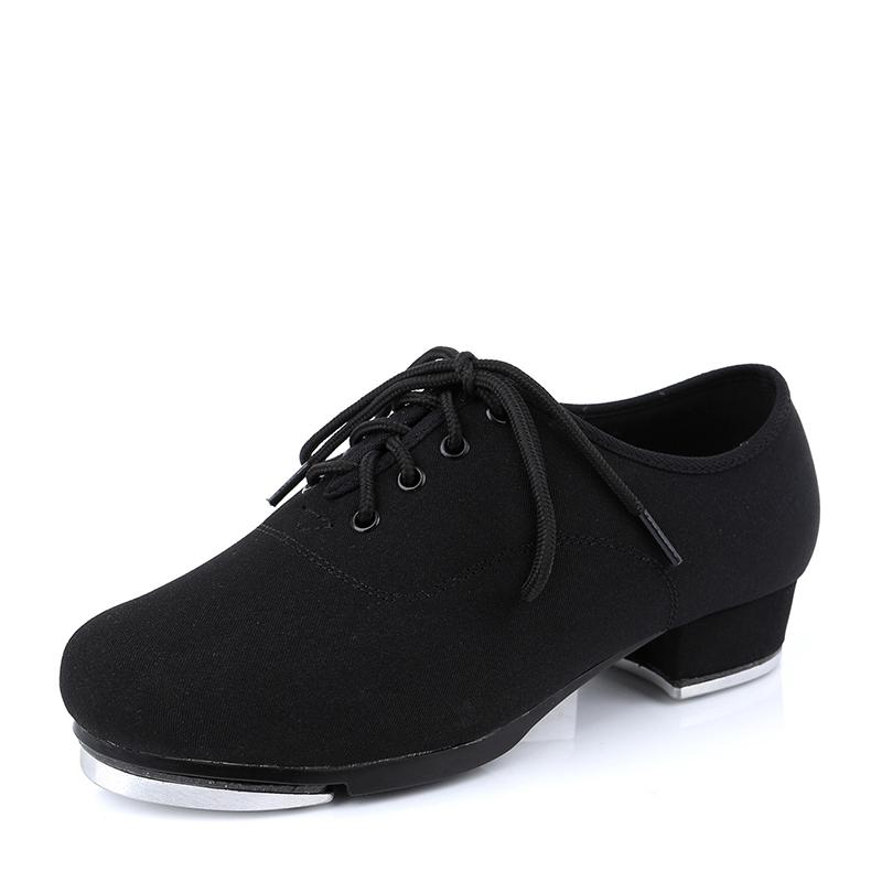 Unisex Canvas Flats Tap Dance Shoes