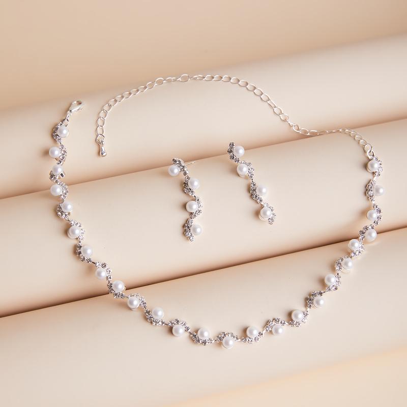 Damene ' Stilig Legering/Rhinestones/Imitert Perle Smykker Sett