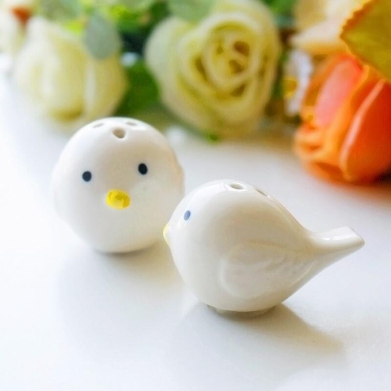 """""""Kjærlighet fugl"""" Animal formet Keramikk Salt & Pepper Shakere (Sett med 2)"""