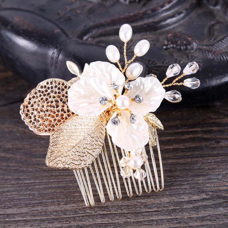Klassisk stil Legering Kammer og Barrettes med Venetianske Perle