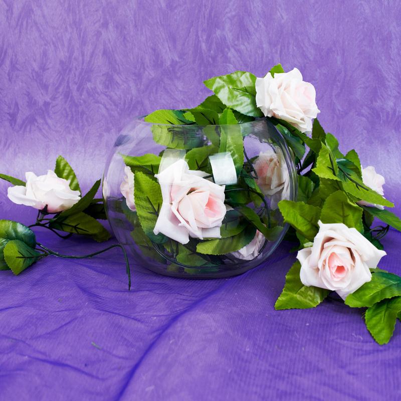 Plast Rosa Vintreet bryllup Dekor