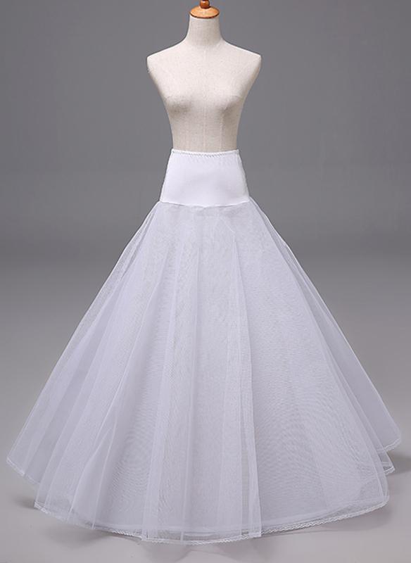 Women Polyester 3 Tiers Petticoats