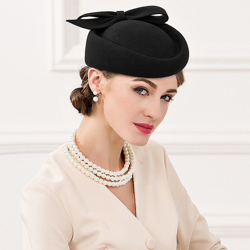 Damene ' vintage stil Ull med Bowknot Fascinators/Tea Party Hats