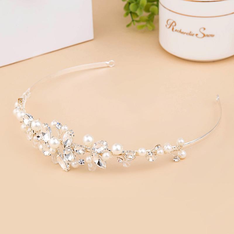 Elegant Crystal/Imitert Perle Tiaraer med Rhinestone