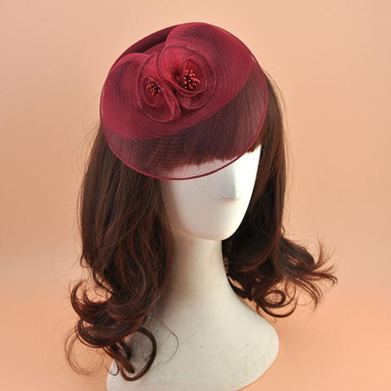 Ladies' Elegant Polyester With Silk Flower Fascinators/Tea Party Hats