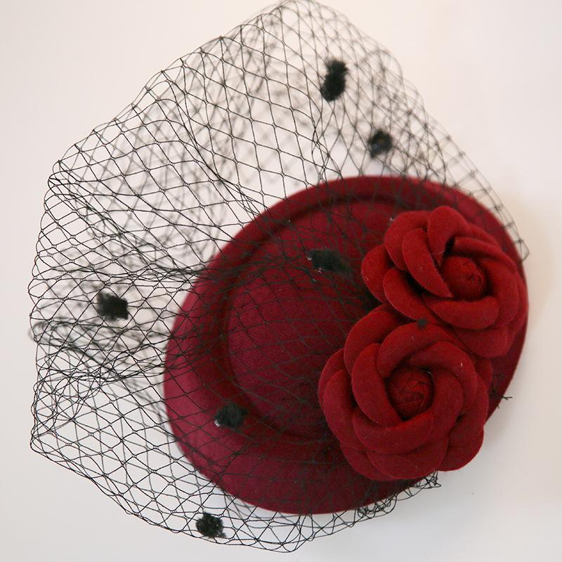 Ladies' Classic Net Yarn Fascinators/Tea Party Hats